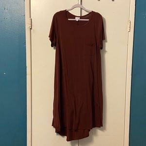 Burgundy/maroon Carly dress